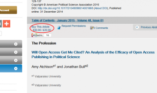 Loont Open Access Publiceren?