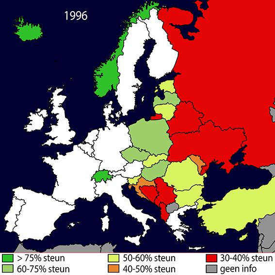 Steun Toetreding NL 1996